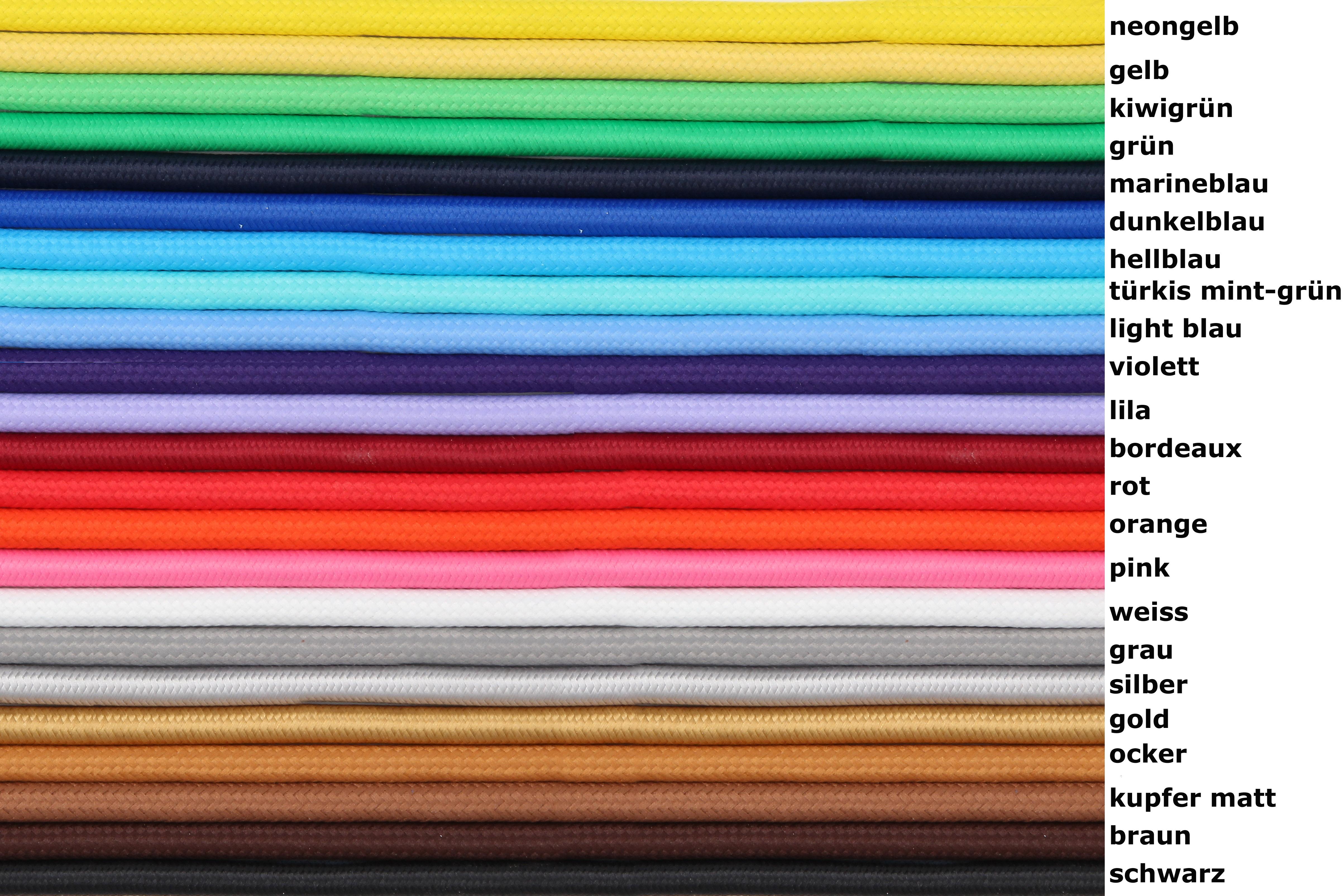 Textilkabel für Lampen - Schweiz - DIY Lampenbau Schweiz