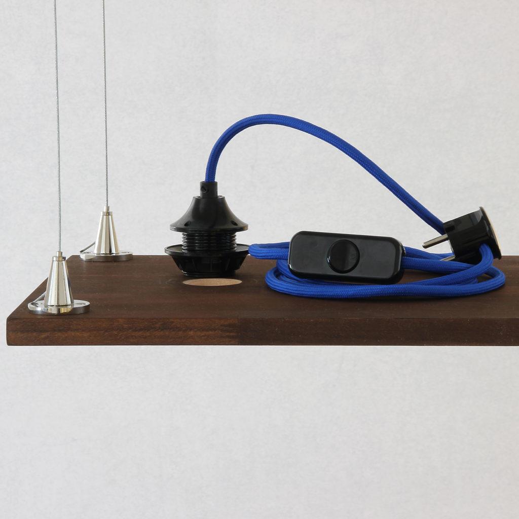 stahlseil aufh ngung f r lampen diy lampenbau schweiz. Black Bedroom Furniture Sets. Home Design Ideas